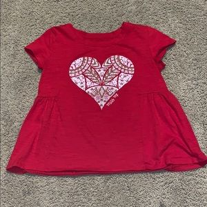 MissMe NWOT Red and Gold Heart Girls Top❤️